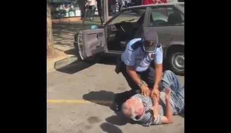 VÍDEO. Polèmica per la reducció policial d'un home gran a Sant Cugat