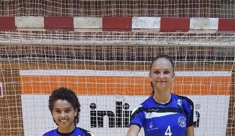 Les jugadores Eva Berenguer i Katy Tyaglyay.