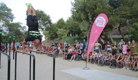 Estrena del parc de 'street workout'