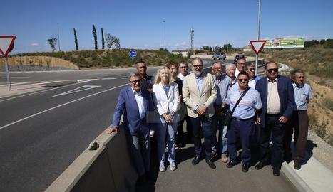 Visita a la finalització de les obres de l'antiga N-II a Lleida