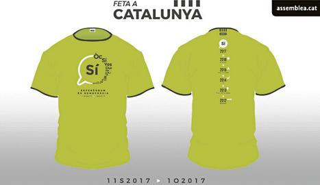 El dissenyador gràfic de les Borges Jordi Calvís ha creat la samarreta de la Diada. Des del col·lectiu MPG de les Garrigues, Calvís va participar en la creació de l'urna gegant que ha aparegut en actes de l'ANC
