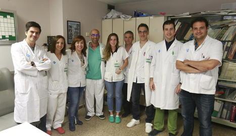 Part de l'equip d'Urologia de l'Arnau, que lidera David Garcia (a la dreta), en la reunió setmanal.