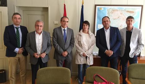 Urrecho, Mir, Niño, Rivero, Villas i Puig ahir a Madrid.