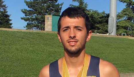 Gerard Porras, amb les medalles, una de les quals de l'UFEC.