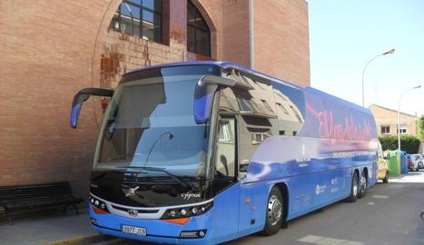 Imatge d'arxiu del Bus de la Salut a Almacelles.