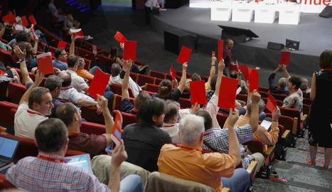Un moment del congrés de CCOO que se celebra a Madrid.