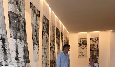 L'artista Rosa Vives exposa fins al 10 de setembre obra en aquesta galeria, amb visites concertades.
