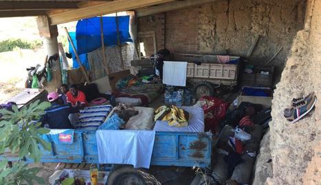 Un dels assentaments visitats per ECP al Segrià.