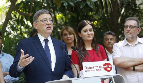 Ximo Puig, el dia de la presentació de la seua candidatura.
