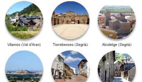 Els pobles finalistes del concurs.