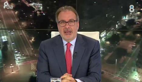 El periodista Josep Cuní deixa 8TV després de sis anys.