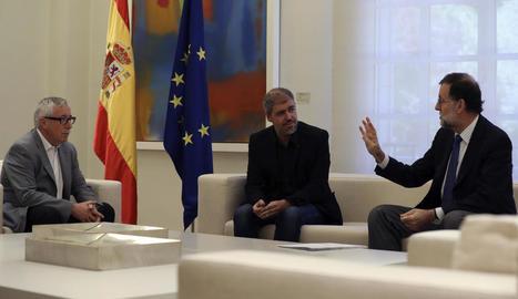 Rajoy es va reunir amb Unai Sordo i amb Ignacio Fernández Toxo.