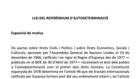 DOCUMENT. Consulta la Llei del Referèndum