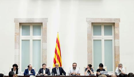 L'acte de presentació de la Llei de Referèndum
