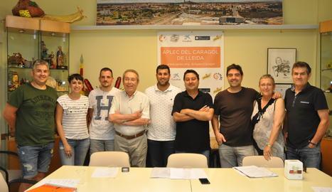 La nova junta de la Federació de Colles de l'Aplec del Caragol.