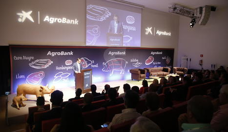 L'acte inaugural de la jornada d'Agrobank sobre el sector porcí.