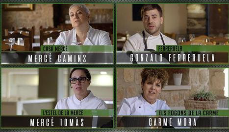Els quatre restauradors de Lleida que participen en el programa.