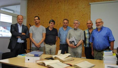 Alguns dels documents cedits, ahir a l'Arxiu del Pla.