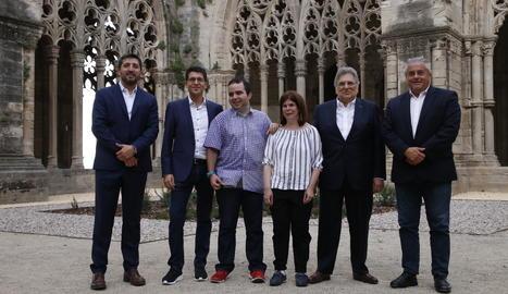 Els guardonats amb els premis Aspid, aquest dijous a la Seu Vella de Lleida.