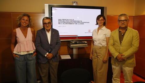 Mínguez, Ros, Ribes i Gómez van valorar ahir la iniciativa.