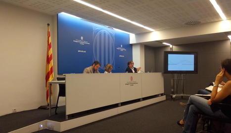 Agustí Serra, durant la sessió informativa sobre la llei de Territori, ahir a Lleida.