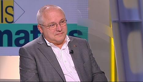 El conseller de Cultura, Lluís Puig, durant l'entrevista a TV3.