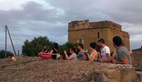 Els 'igers' de Lleida visiten el Castell Templer de Gardeny