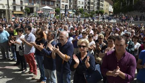 Concentració de protesta dissabte a Sabiñánigo.