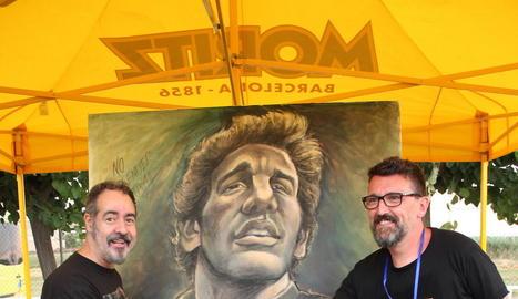 El dibuixant d''El Jueves' Vizcarra va entregar un dibuix al festival.