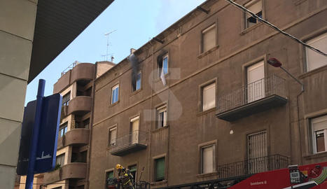 Espectacular incendi al centre de Lleida