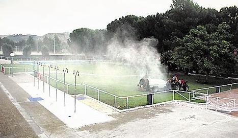 La setmana passada es va iniciar l'ampliació de fumigacions.