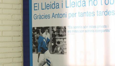 El jugador Mousa Bandeh, ahir durant les proves mèdiques a Cor Lleida.