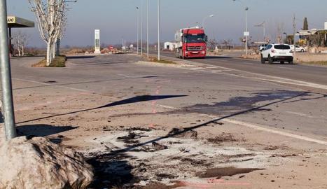 Imatge del lloc de l'accident mortal a la Fuliola.