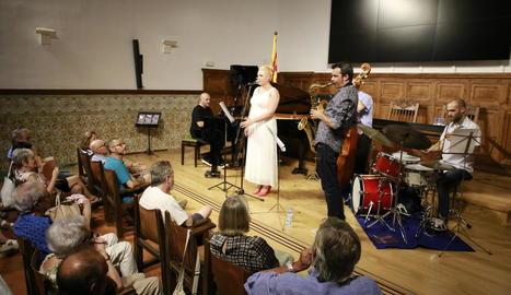 L'Aula Magna es va omplir ahir per disfrutar del concert de jazz.