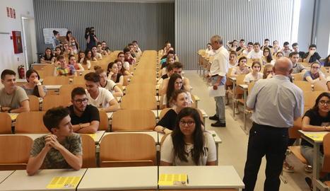 Alumnes que es van enfrontar a la selectivitat el juny passat.