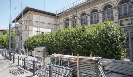 Les bastides que s'han instal·lat al Jaume Balmes de Cervera.