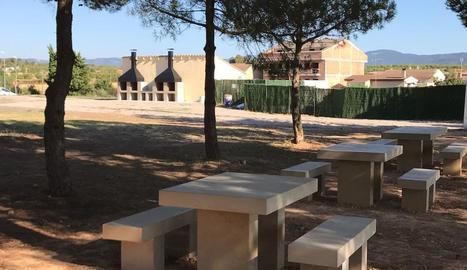 La nova zona de pícnic i barbacoes a l'Albi.