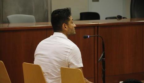 L'acusat, ahir a l'Audiència de Lleida.