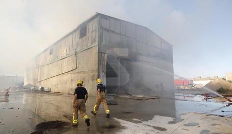 Incendi en una deshidratadora d'Alcarràs