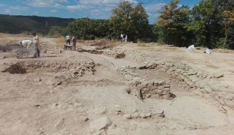 Imatge d'arxiu de l'excavació arqueològica de Castellvell.