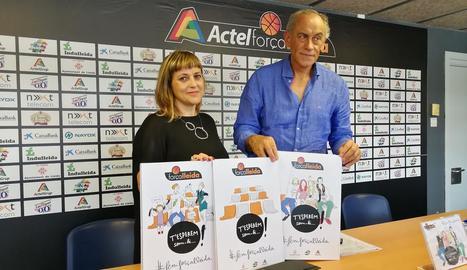 Montse Pociello i Félix González van presentar ahir la campanya.