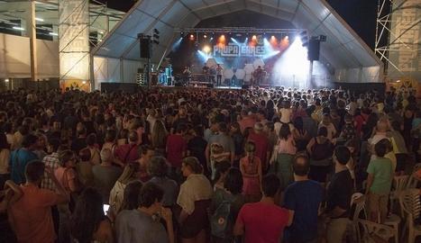 Imatge d'un dels concerts celebrats dissabte a la nit.