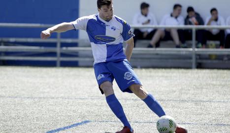 Eneko Satrústegui, en un partit de la passada temporada amb l'Ebro.