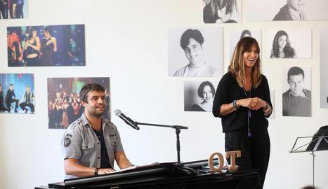 Manu Guix i Noemí Galera, en el retrobament d''OT'.