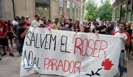 Manifestació Salvem el Roser