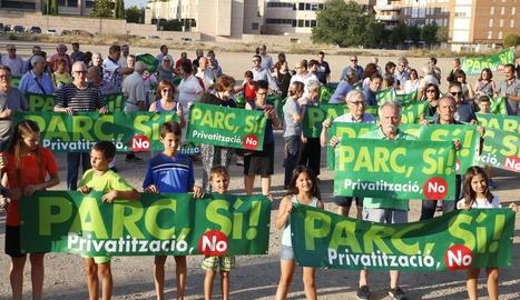 Manifestació de la plataforma veïnal el passat 27 de juny.
