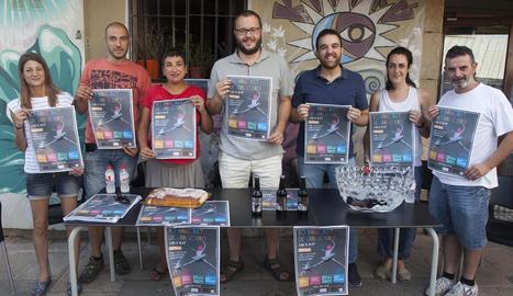 Organitzadors i autoritats, en la presentació ahir de la temporada de Lo Balconet de Can Colapi.