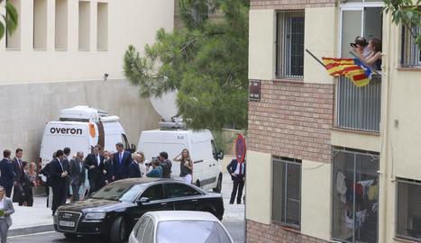 Rajoy, a l'AVE que el va portar fins a Lleida.