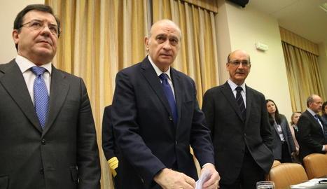 L'exministre Jorge Fernández-Díaz el passat 5 d'abril, en la comissió d'investigació.