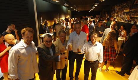 La nova sala VIP del Força Lleida es va inaugurar ahir amb la presència de molts dels patrocinadors.